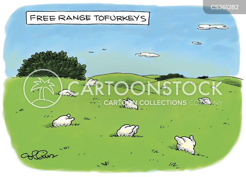 free range animals cartoon