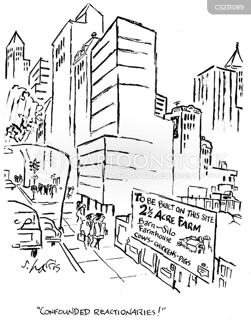 urban farm cartoon