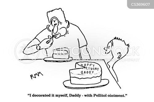 cake icing cartoon