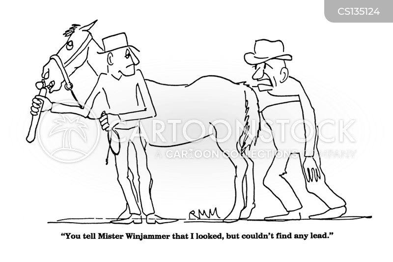Horse Vet Cartoon Horse Palpations Cartoon 3 of