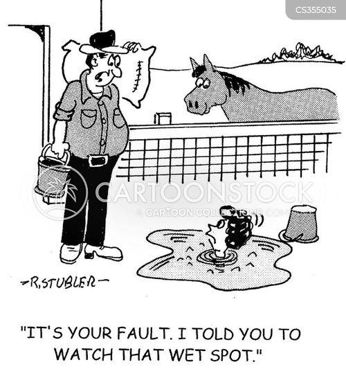 wet spot cartoon