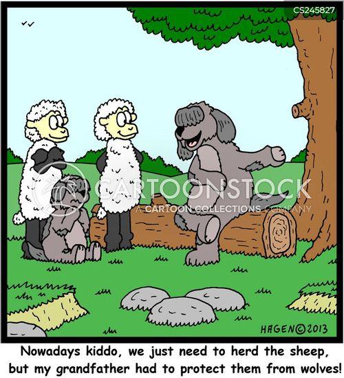 shepherding cartoon