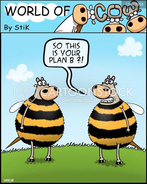 exit plan cartoon
