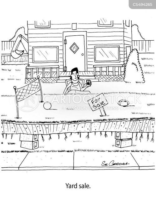 junk sale cartoon
