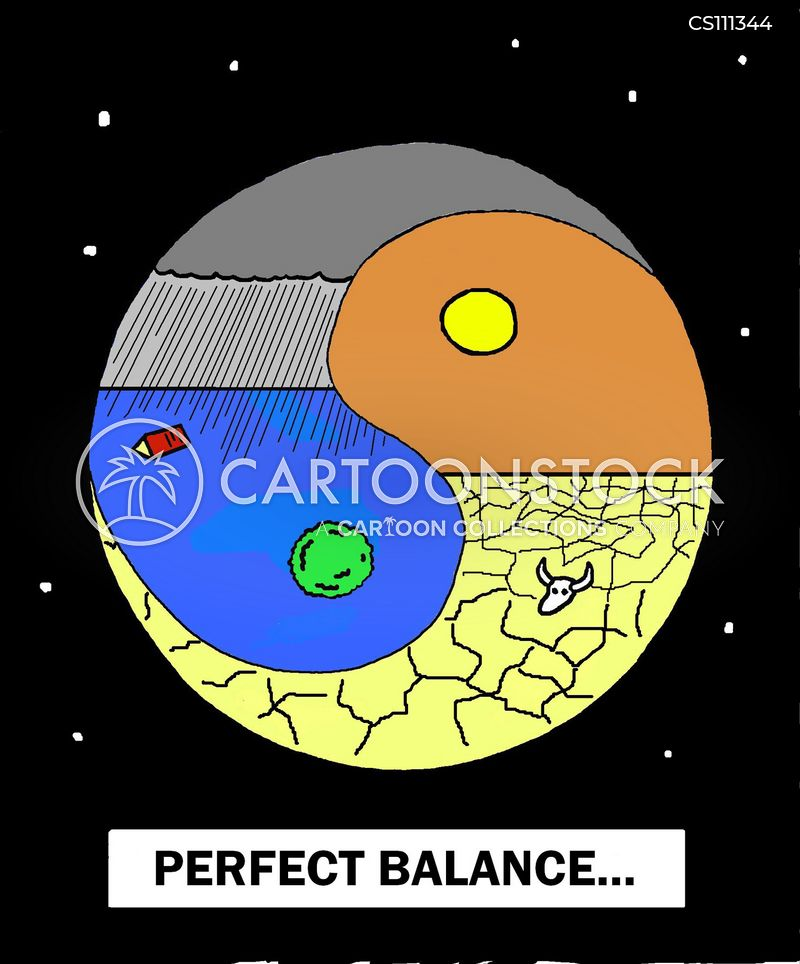 yin and yang cartoon