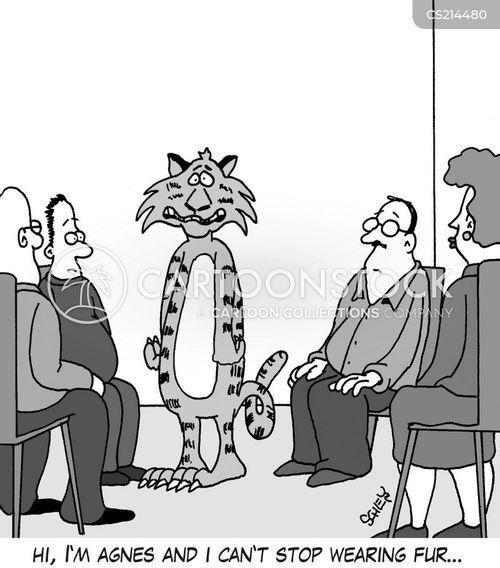 wearing fur cartoon