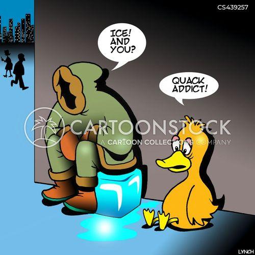 cocaine addicts cartoon