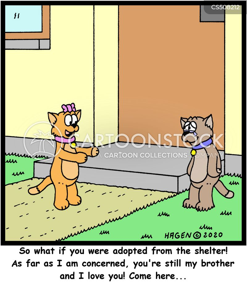 adopted family cartoon