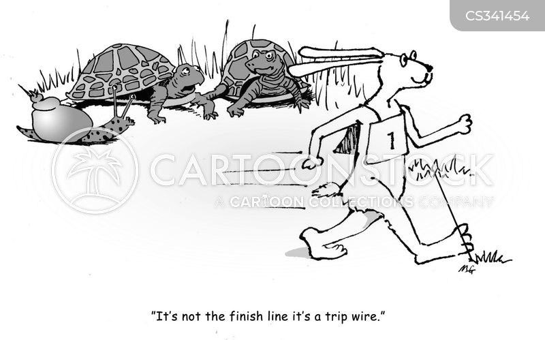 slow moving cartoon
