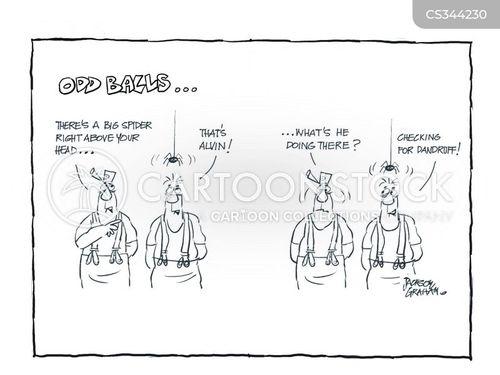 dry scalp cartoon