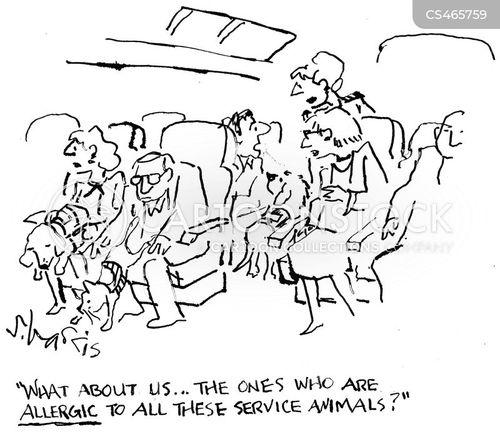 service animals cartoon