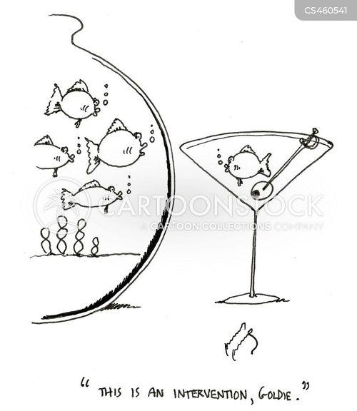 alcohol addict cartoon