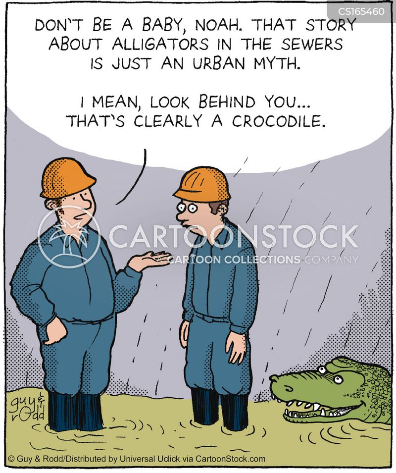 manhole cartoon