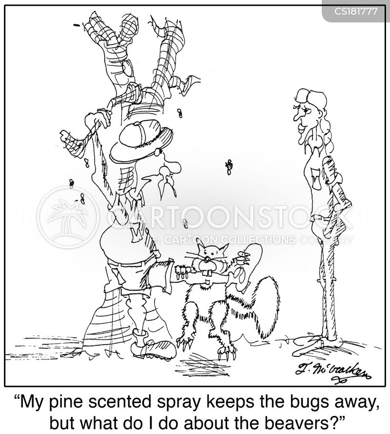 insect repellent cartoon