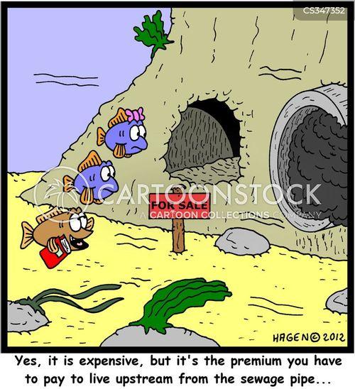 upstream cartoon