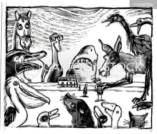 giant animals cartoon