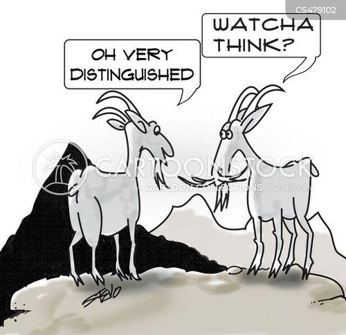 distinguished cartoon