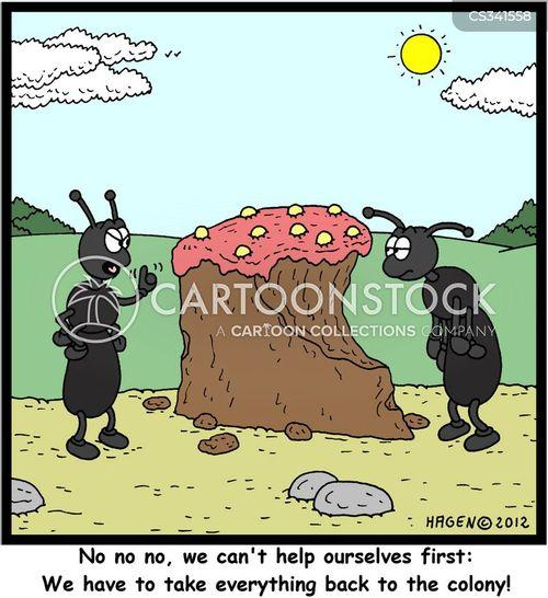 Cartoons Und Karikaturen Mit Selbstlos