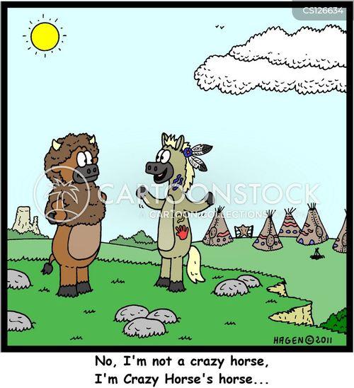 battle of little bighorn cartoon