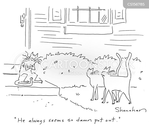 displeased cartoon