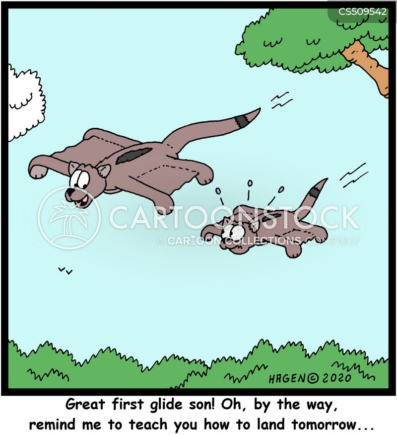 learning to fly cartoon
