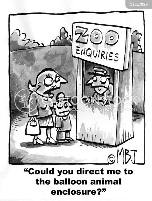 animal enclosures cartoon