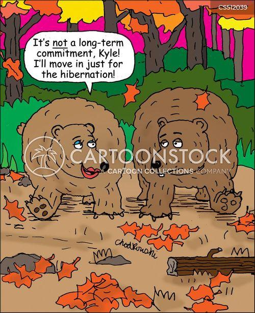 non-committal cartoon