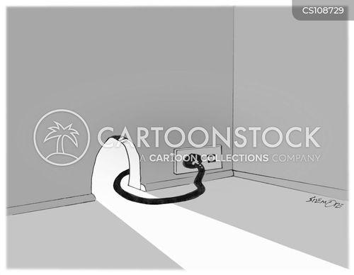 electricity socket cartoon