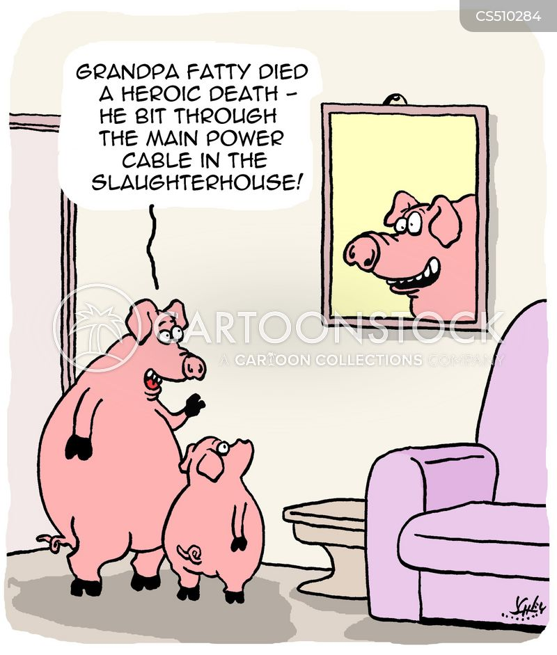 meat industry cartoon