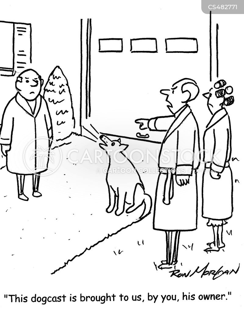 dog barks cartoon