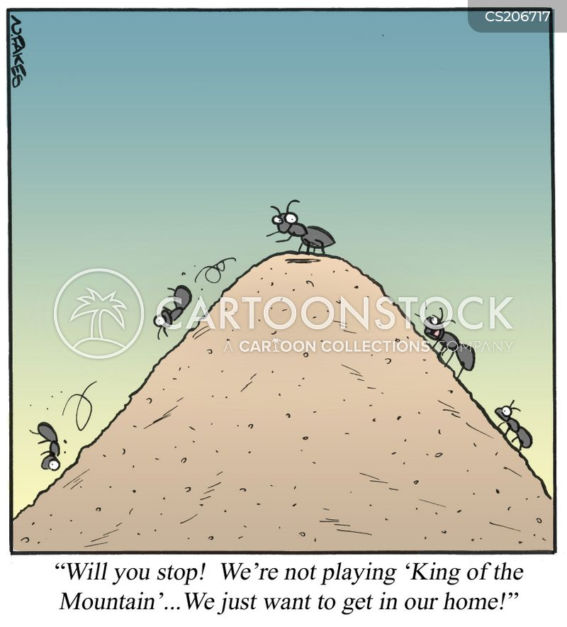 king of the mountain cartoon