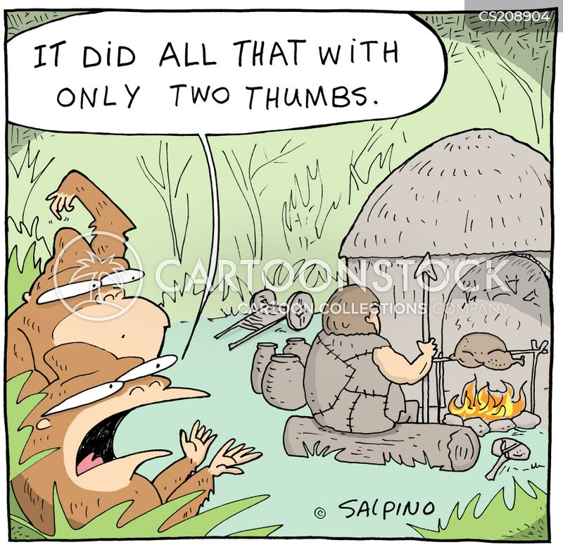 primitive civilisation cartoon