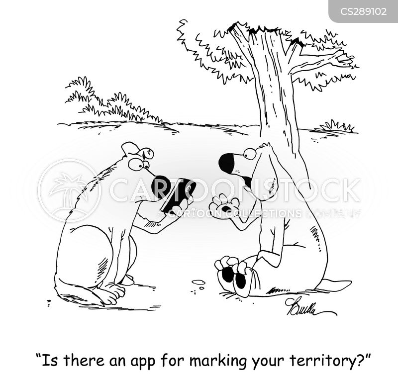 territory marker cartoon