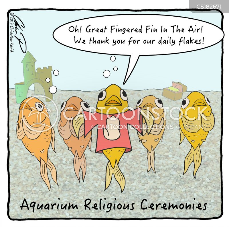 fish owners cartoon
