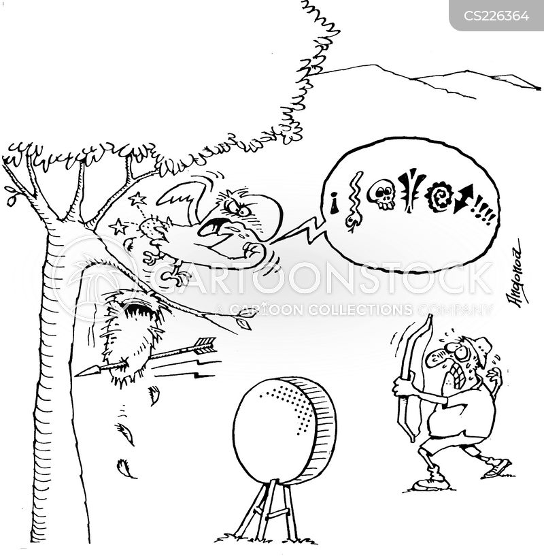bulls eye cartoon