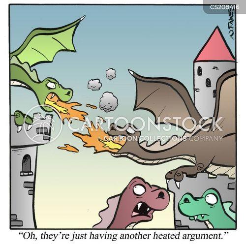 fire breathing cartoon