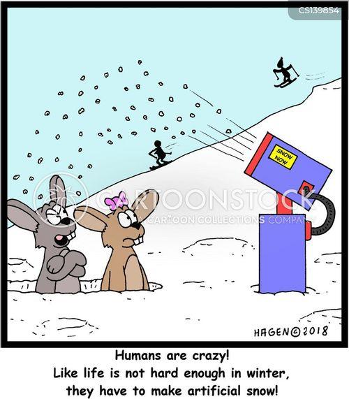 fake snow cartoon