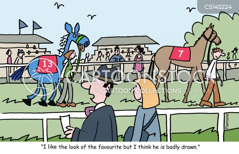 racetracks cartoon