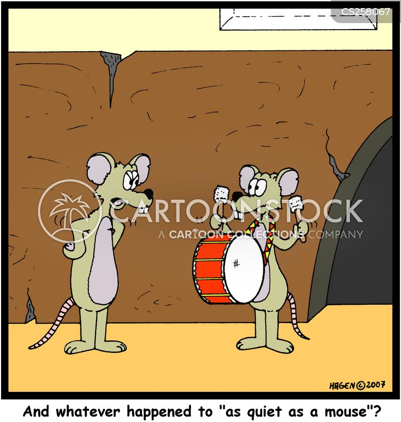 drumming cartoon