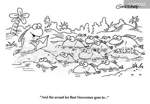 school of fish cartoon