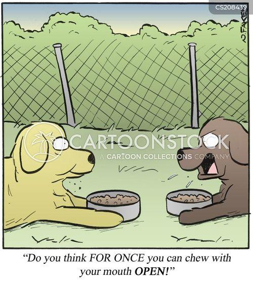 table etiquette cartoon