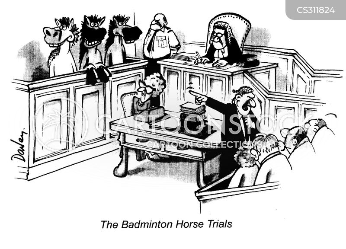 in court cartoon