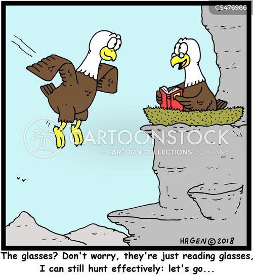 long-sighted cartoon