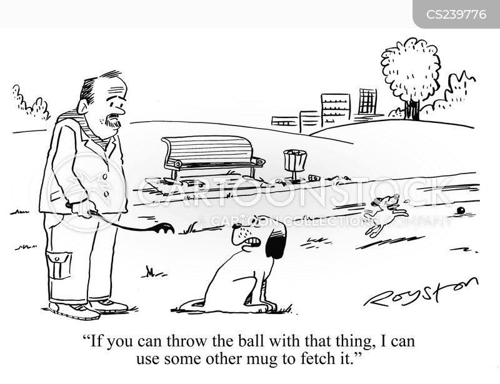 ball throwers cartoon