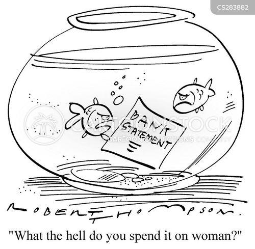 bank statement cartoon