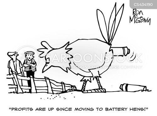 battery farm cartoon