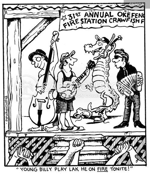 gator attack cartoon
