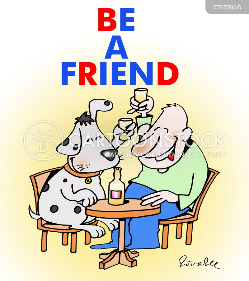 good friend cartoon