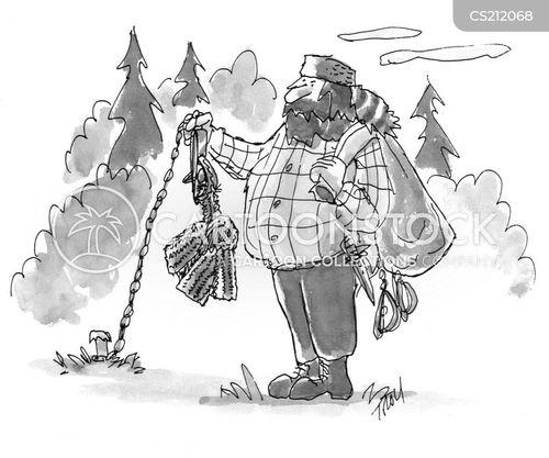 bear trap cartoon