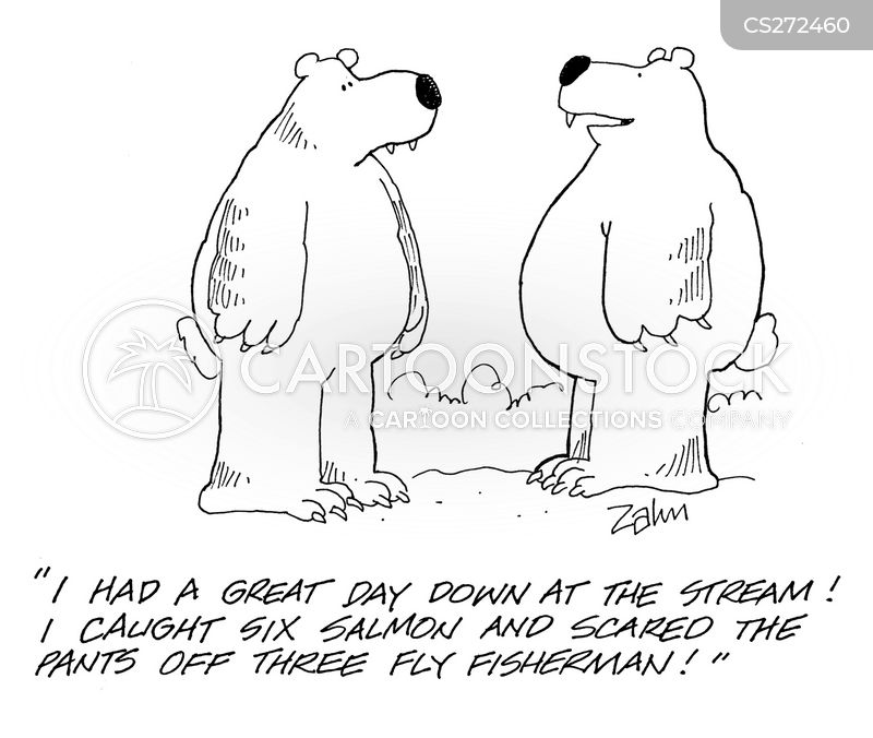 Salmon fishing cartoons and comics funny pictures from for Is today a good day to fish